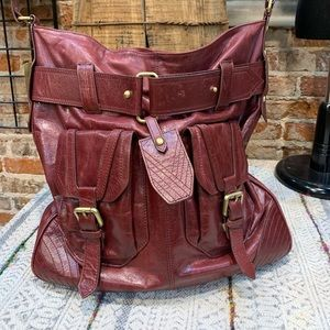 Victor leather satchel.